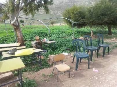 Restos de la escuela demolida en Jirbet Tana (Nablus). 2/3/16.