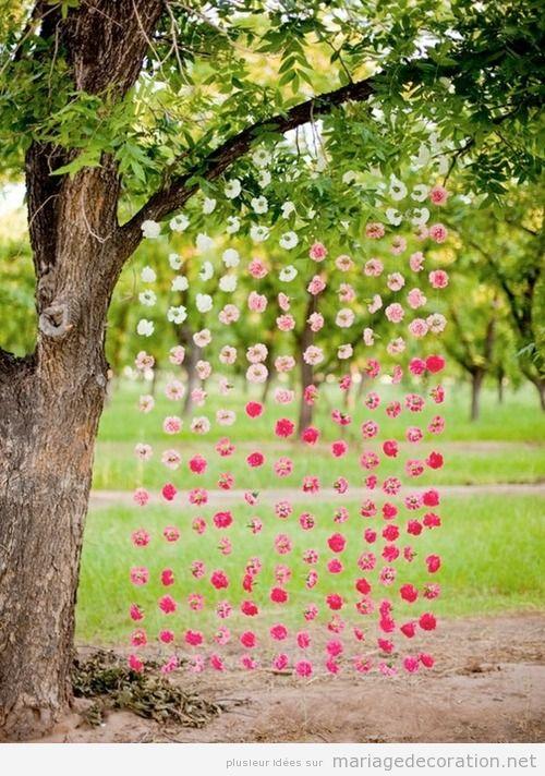 rideau en fleurs autel pour un mariage