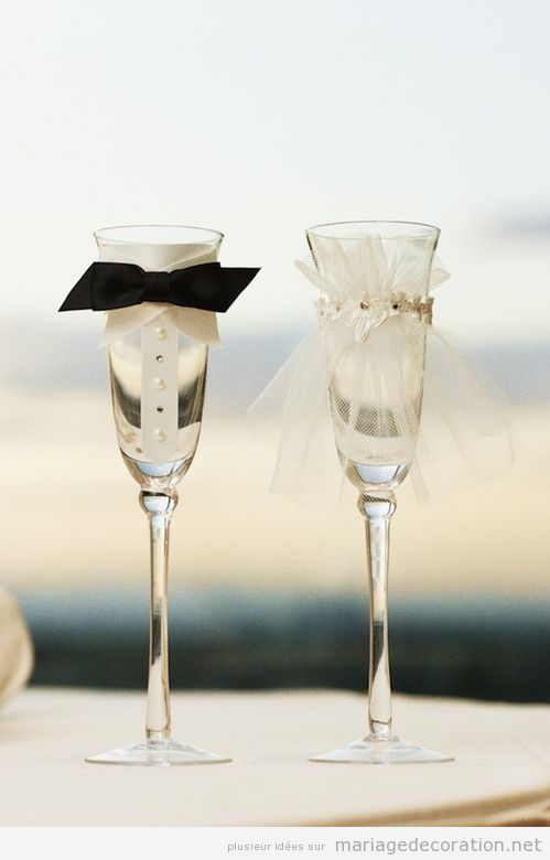 Coupes de champagne d cor es pour les mari s d coration mariage id es pour d corer un - Coupe de champagne pas cher ...