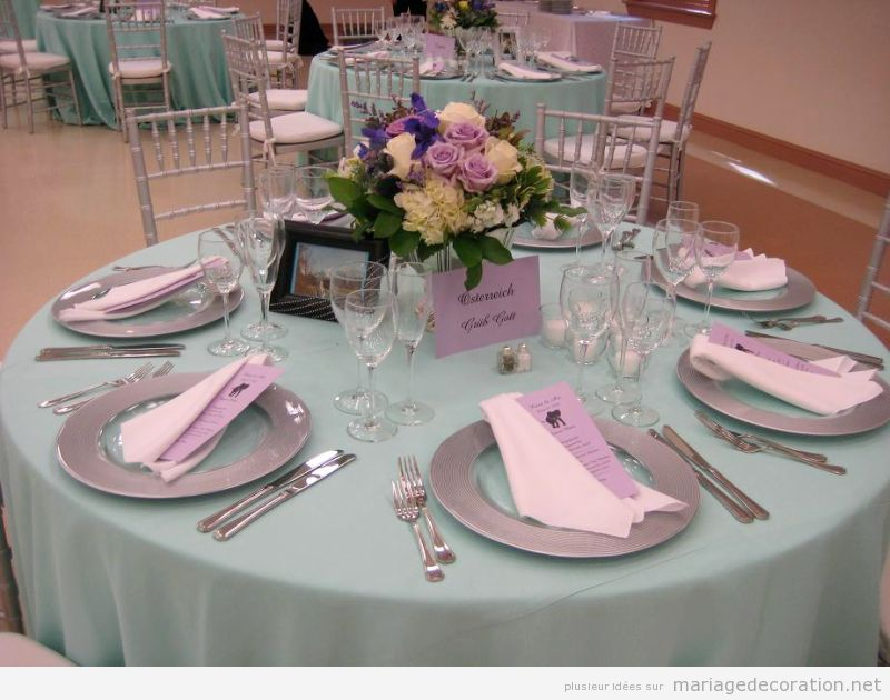 D co table mariage en couleur lilas et vert pastel d coration mariage id es pour d corer un - Decoration table mariage pas cher ...