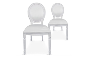 Lot de 2 chaises mariés 50€-