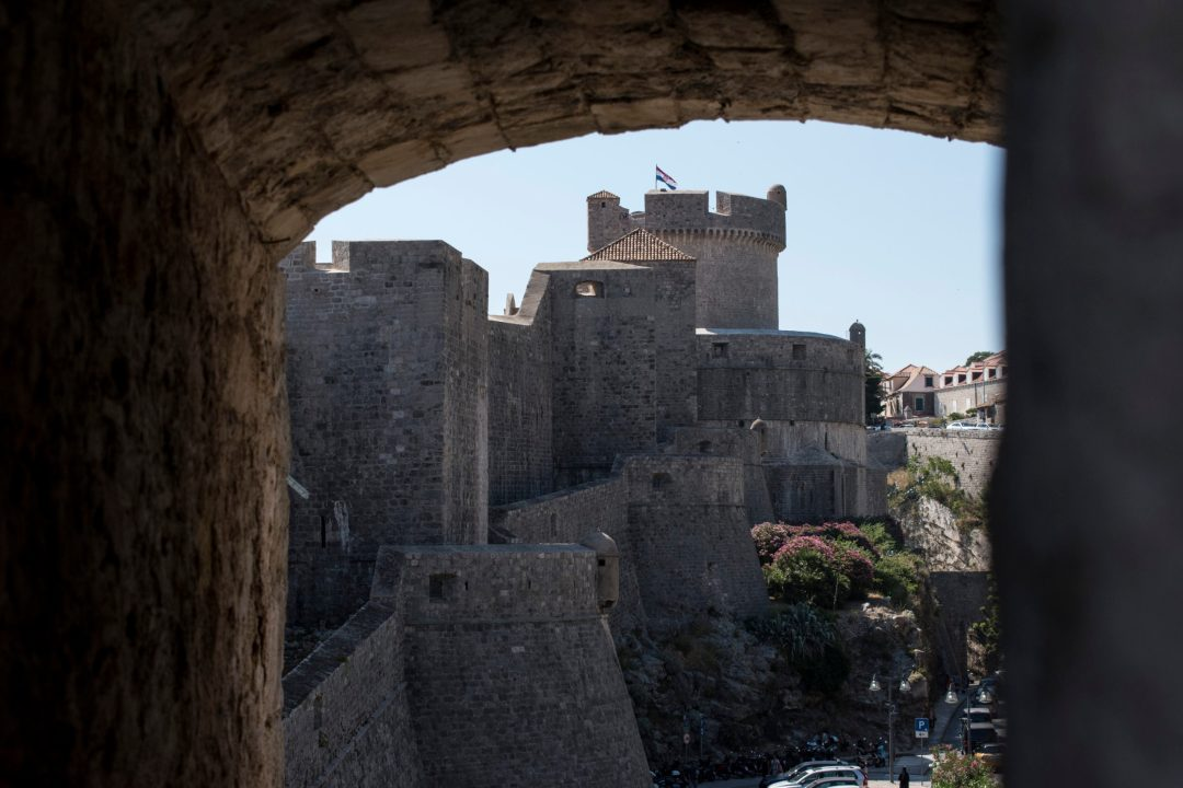 Croatie, voyages, ville, rempart, vue remparts