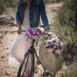 vélo, bicyclette, fleurs, décorations florales