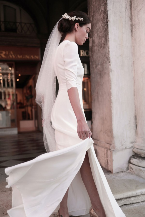 modèle Casilda, maison Lemoine Paris, robes de mariée, collection blanche 2021