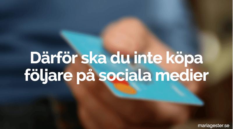 därför ska du inte löpa följare på sociala medier