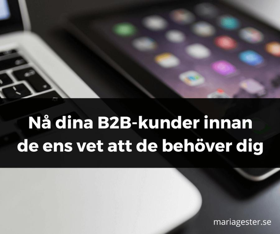 Nå dina B2B-kunder