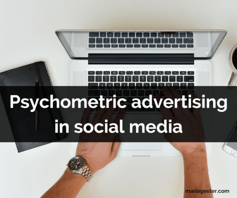 Psychometric advertising in social media