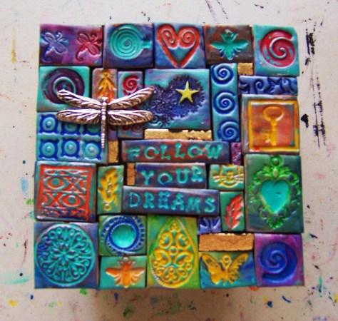 polymer clay mosaic