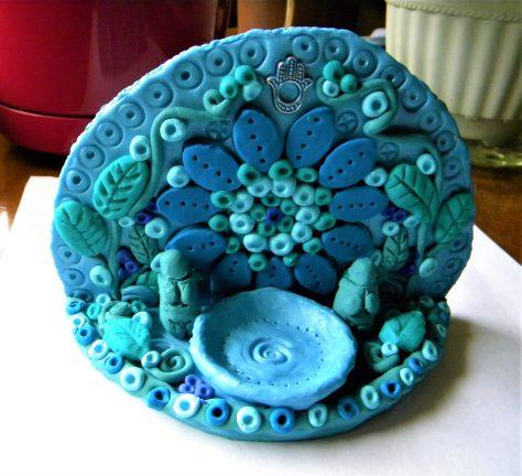 Goddess altar, polymer clay