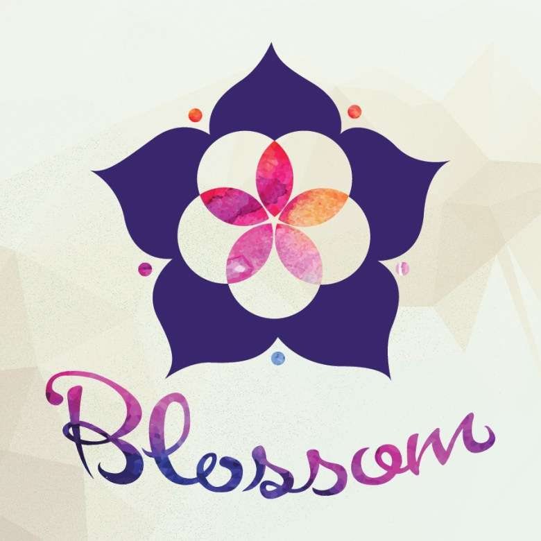 Blossom logo on facets-01
