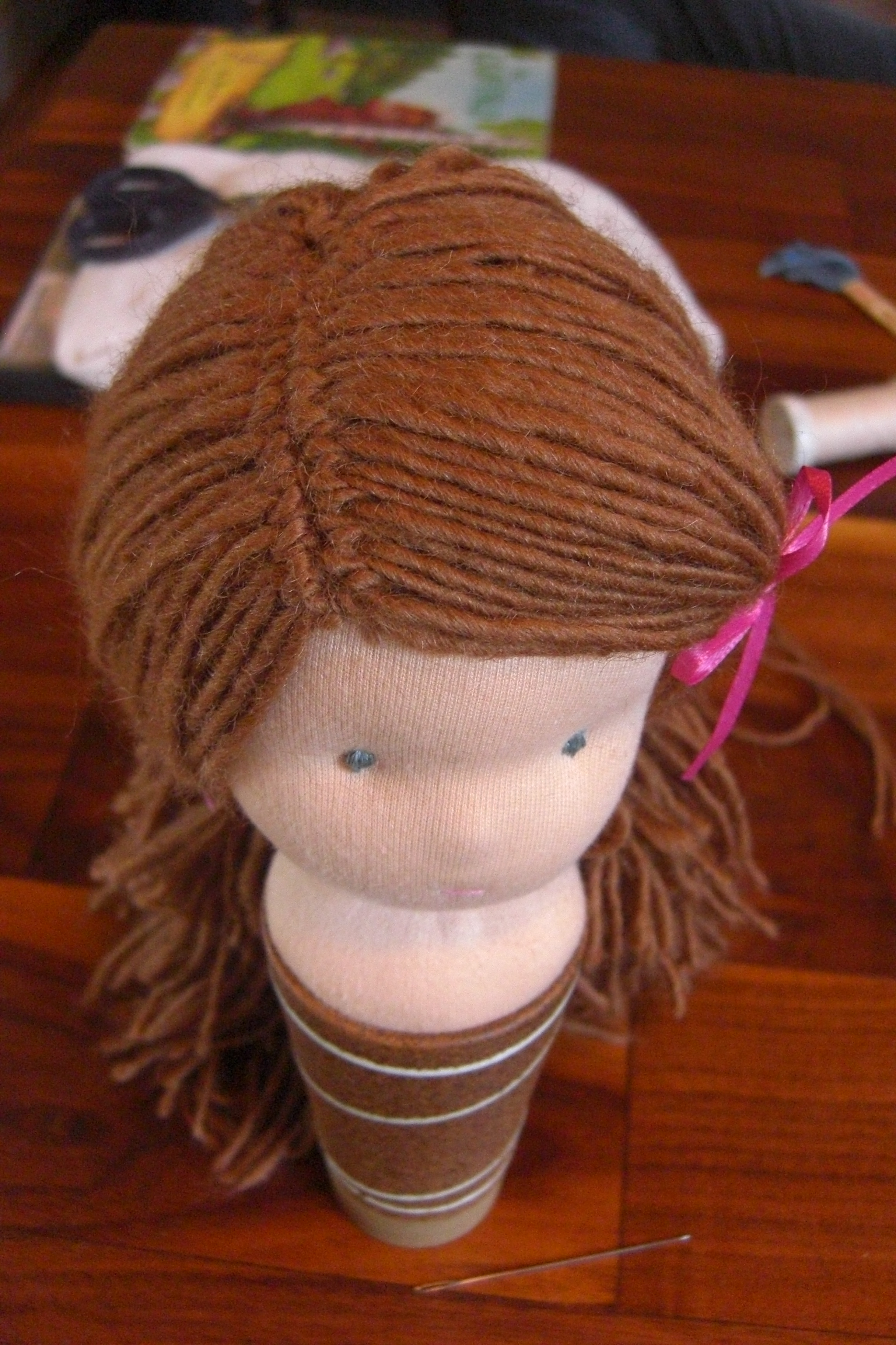How To Make A Waldorf Doll Wig