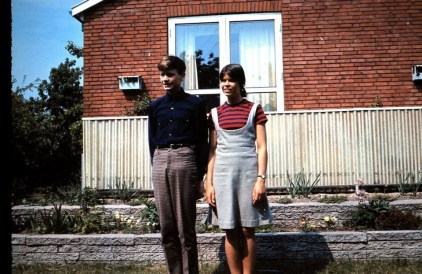 My twin brother and I. A dress I made at the time 1966