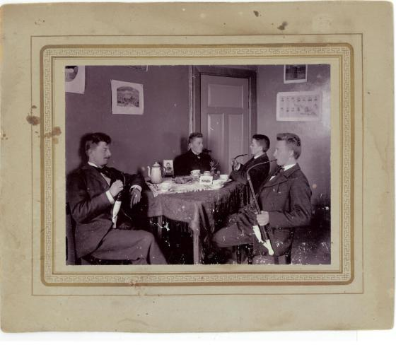 Emry second to the right at his teachers' College about 1900