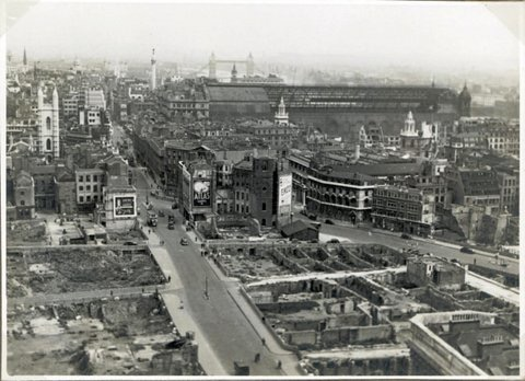 View from St. Paul's Cathedral 1946