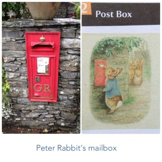 A combination of the Beatrix Potter drawing and the Wall Box at the same spot
