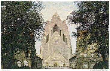 The Grundtvig's Church at a postcard