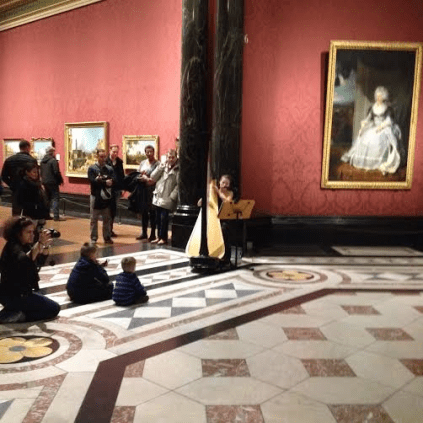National Gallery at night with children