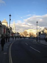 To the left is the National Gallery and St Martin-in-the-Fields far eft