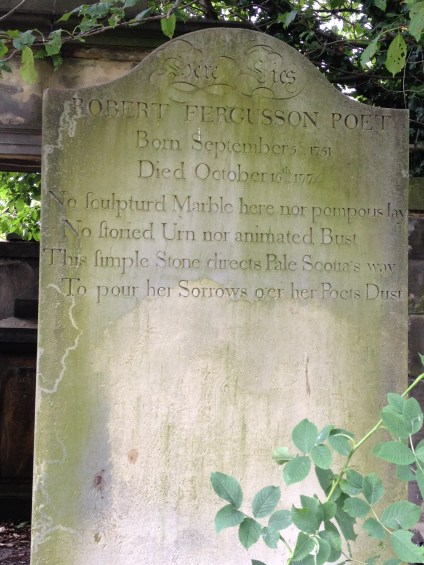 The epitaph of Robert Fergusson