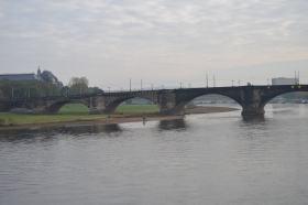 The bridge August bridge in central Dresden