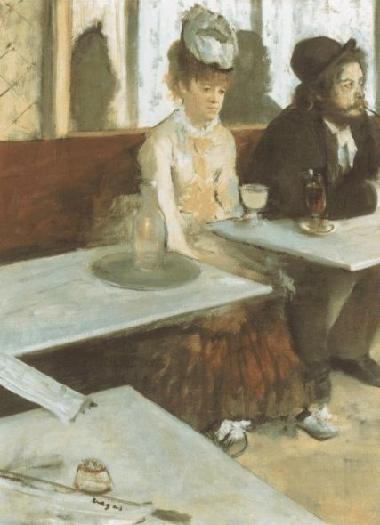 """The Absinthe drinker"" by Degas"