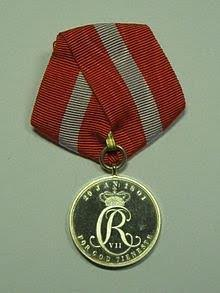 His medal of honor for 25 years of faithful service