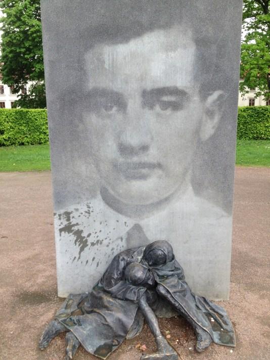The memorial for Raul Wallenberg at Haga church