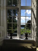 A view from a window in the main building of Hindsgavl castle