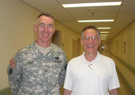 General Cheek and Dad (McGuire VAMC, 7/25/08)