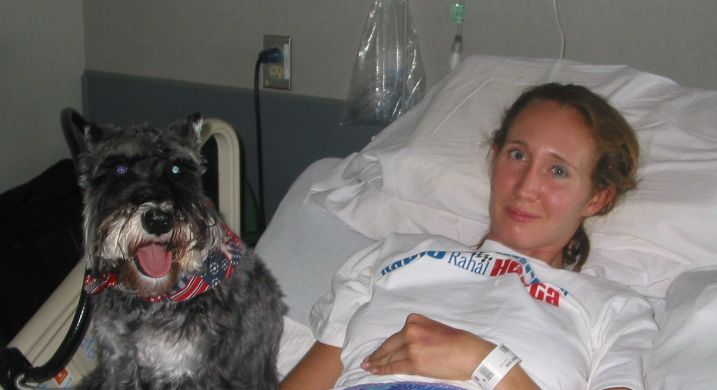 Mariah and Bogart (McGuire VAMC, 7/21/08)