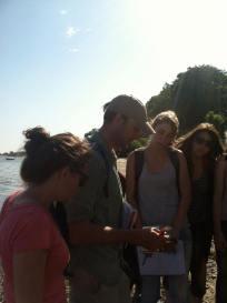 Class the next day along the Baltic Sea shoreline