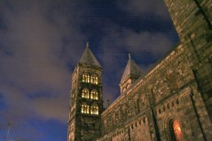 Lund Cathedral at night