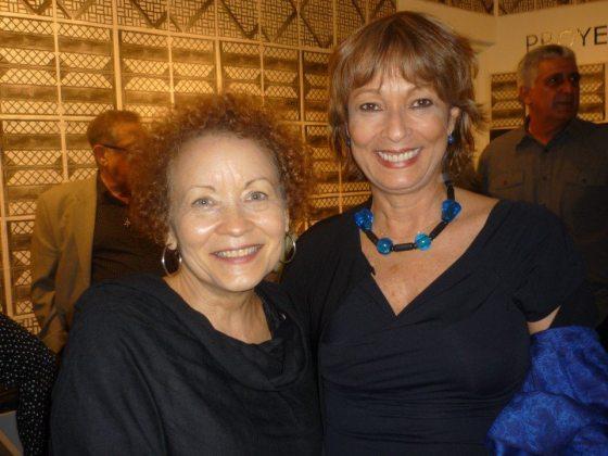 La escritora puertorriqueña Lourdes Vázquez y Maria Juliana