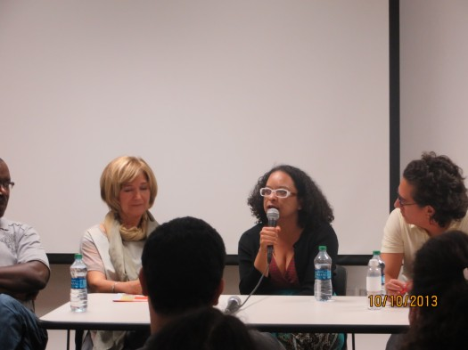 Louis Philippe Dalambert, Lidia Jorge, Ana María Gonçalves, Daniel Alarcón y Urayoán Noel.