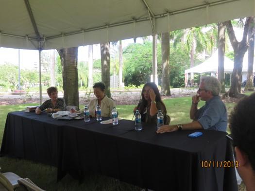 Magali García Ramis, Carmen Dolores Hernández, Janette Becerra y Pedro Cabiya.