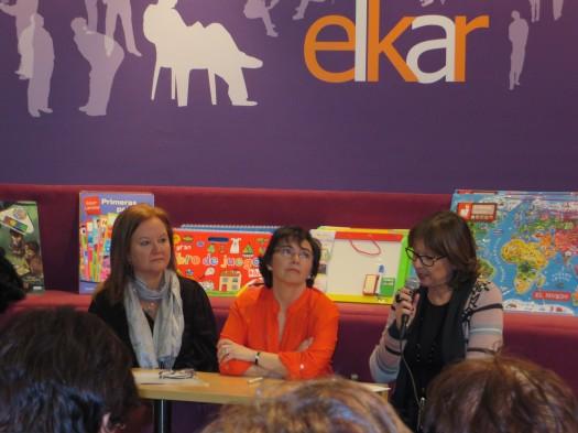 Marga Azkona, María José Mielgo y María Juliana Villafañe