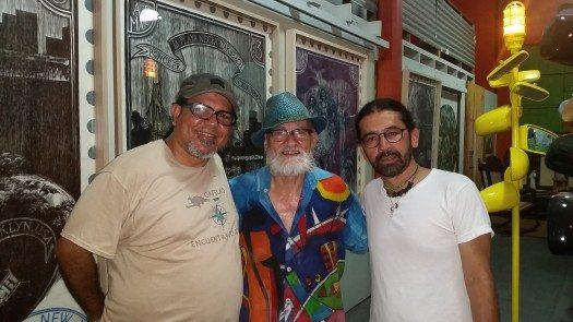 El profesor Ramón Soto Martínez, Antonio Martorell y el escritor colombiano Edgar Barrero Cuéllar.