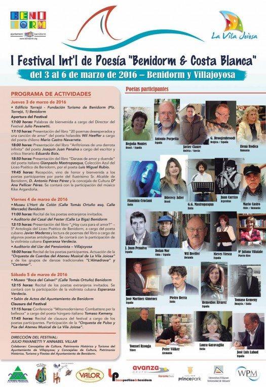 Cartel definitivo Festival de Benidorm y Costa Blanca 2016