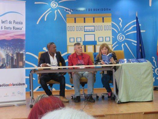 Javier Mederos, Julio Pavanetti y Annabel Villar.