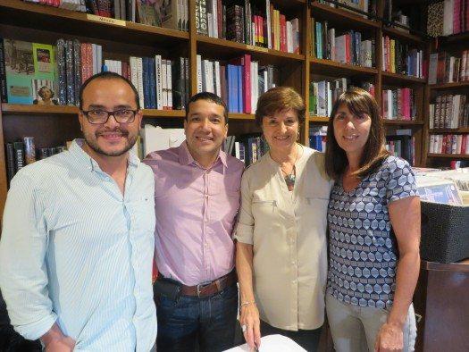Rubén Varona, Carlos Bermeo, Isabel García Cintas y Mónica Prandi.