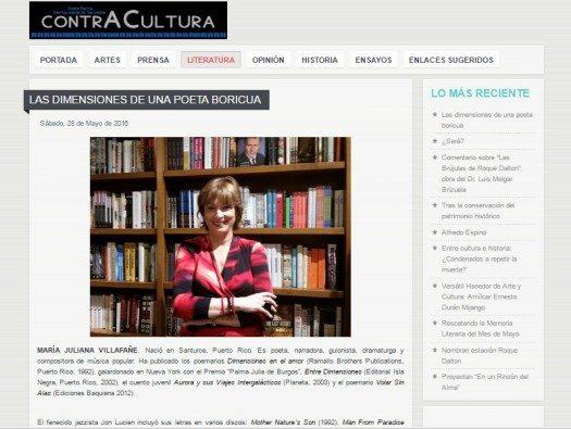 Recorte de prensa-revista Contracultura, San Salvador