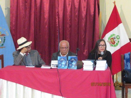 Javier Villegas, José Guillermo Vargas y Mirian Caloretti