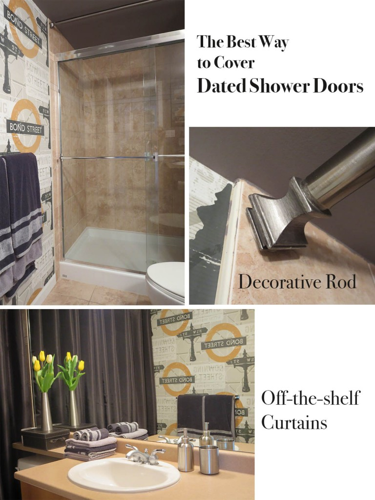 the best way to cover dated shower doors
