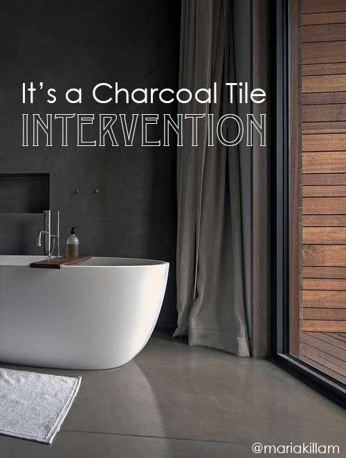 it s a charcoal tile intervention don