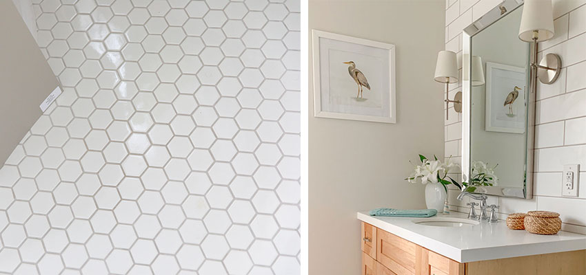 the best grout colour for white tile