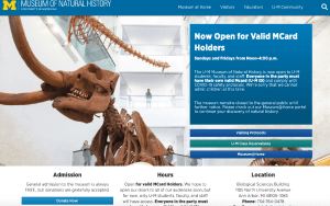University of Michigan Museum of Natural History Current Homepage