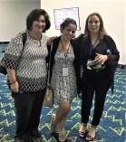 Con las escritoras Nicolle Azamora y Mónica Durán en la XIII Feria Internacional del Libro . Panamá.