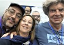 Con el escritor español Juan Bolea y el escritor panameño Hector Aquiles González XIII Feria Internacional del Libro en Panamá -