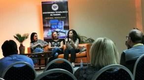 Las escritoras Carolina Fonseca, Nicolle Alzamora Candanedo y Maria Laura De Piano.
