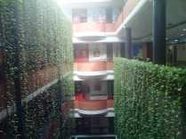 Terraza interior de un hotel? No, es un centro de salud. Nice, eh?